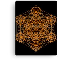 Infinity Cube Orange Canvas Print