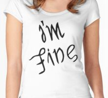IM FINE / SAVE ME Depression anxiety awareness  Women's Fitted Scoop T-Shirt