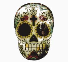 Day of the Dead Sugar Skull Grunge Design Kids Tee