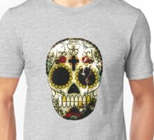 Day of the Dead Sugar Skull Grunge Design Unisex T-Shirt