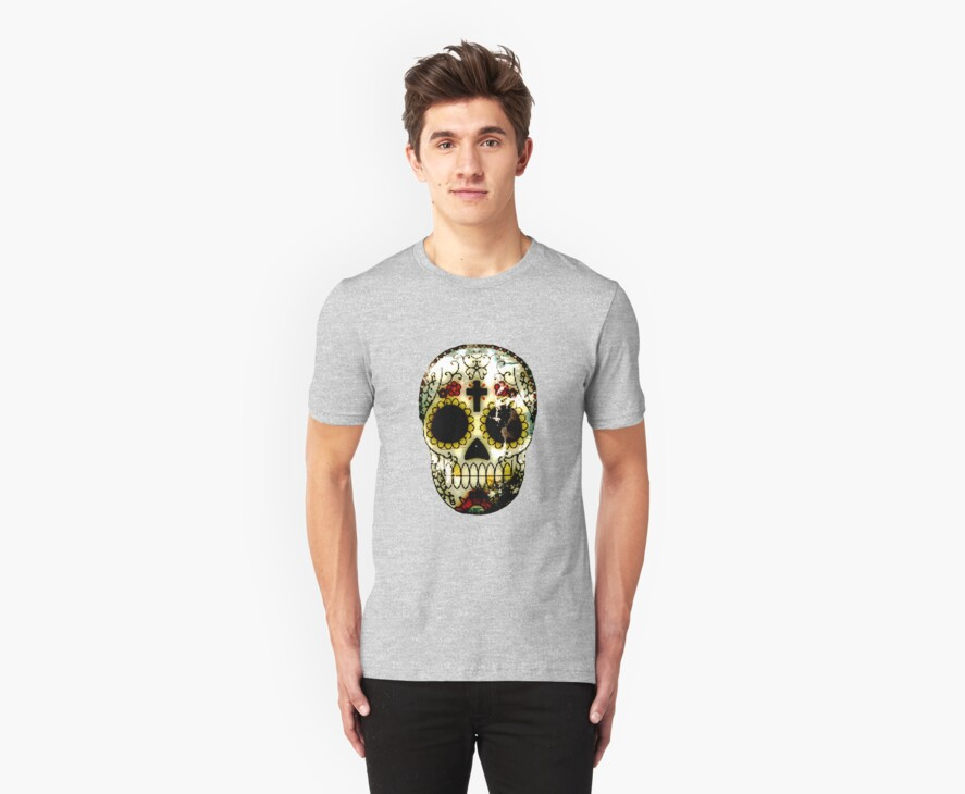 Day of the Dead Sugar Skull Grunge Design by NaturePrints