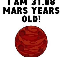 60th Birthday Mars Years by GiftIdea