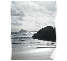 Silver surf at Whisky Bay, Wilson's Promontory Poster