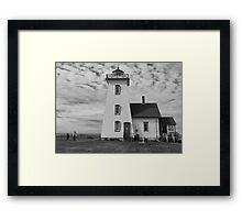 A Lighthouse in Prince Edward Island, Canada Framed Print