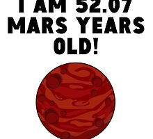 98th Birthday Mars Years by GiftIdea