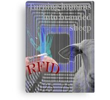 RFID - Turning humans into branded sheep Canvas Print