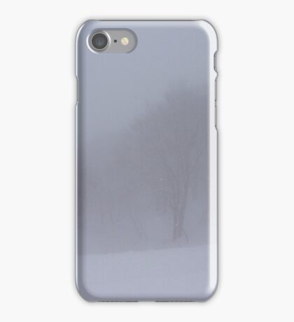 Snow Storm in the Woods iPhone Case/Skin