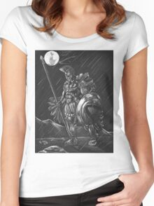 Lost comrades under the moon Women's Fitted Scoop T-Shirt