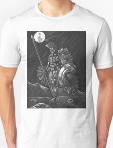 Lost comrades under the moon Unisex T-Shirt