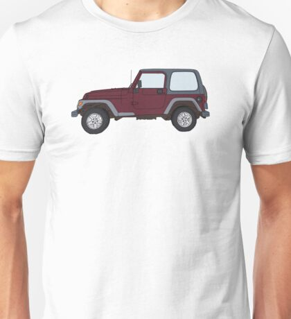 Hand Drawn Jeep Wrangler Unisex T-Shirt