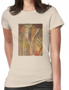 Windy Autumn - Section of Art Pastel Abstract  Womens Fitted T-Shirt