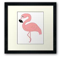 Pink Flamingo Bird Design Framed Print