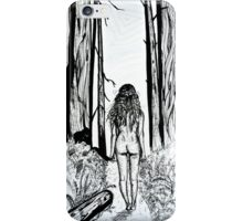 Girl In The Woods iPhone Case/Skin