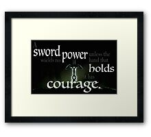 A Sword Wields No Power Framed Print