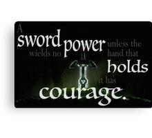 A Sword Wields No Power Canvas Print
