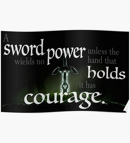 A Sword Wields No Power Poster