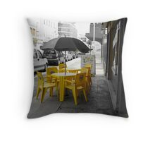 yellow chairs  Throw Pillow