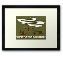 Where the Wild Things Were Framed Print