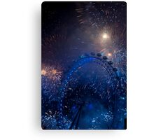 Fireworks in London Canvas Print