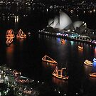 Sydney Harbor boats by Jim  Paredes