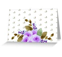 watercolor lilac flowers pattern Greeting Card