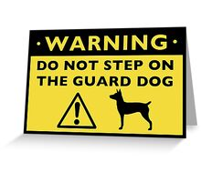 Rat Terrier Funny Guard Dog Warning Greeting Card