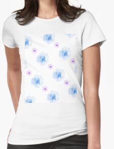 watercolor blue flowers pattern T-Shirt