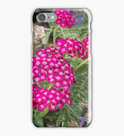 Tiny vibrant deep pink blossoms iPhone Case/Skin