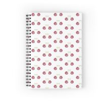 Cherry berry watercolor pattern Spiral Notebook