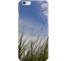 Grass, Clouds, Wind (Vertica) iPhone Case/Skin