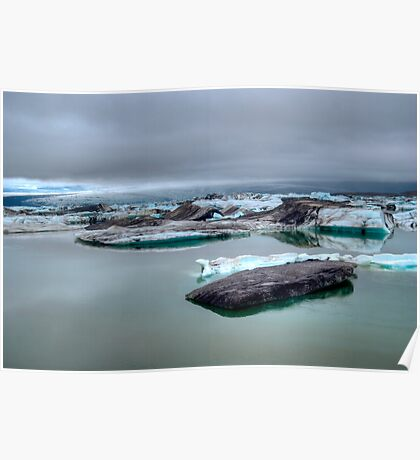 Glacial Meltwater Southern Iceland Poster