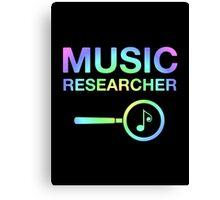 Music Researcher Canvas Print