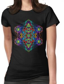 Infinity Cube Rainbow Womens Fitted T-Shirt