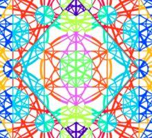 Infinity Cube Rainbow Sticker