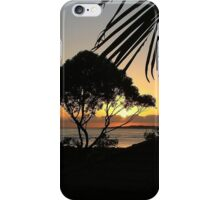 sunset past the trees  iPhone Case/Skin