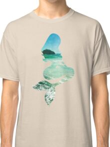 Mermaid ocean beach boho cool trendy pretty design Classic T-Shirt