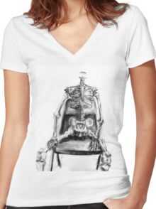 Dead in Conversation Women's Fitted V-Neck T-Shirt