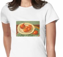 Plate with onions Womens Fitted T-Shirt