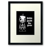 Robot Punks for Peace Framed Print