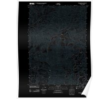 USGS Topo Map Oregon Twin Sisters 20110824 TM Inverted Poster