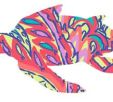 Lilly Pulitzer Feelin Groovy Turtle by anniedead