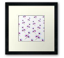 Violet blue watercolor flowers Framed Print