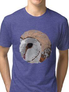 Barn Owl Circle Tri-blend T-Shirt