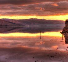Inveraray Sunset over Loch Fyne by Andrew Littlejohn