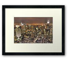New York After Dark Framed Print