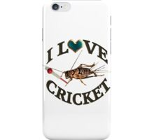 FOR THE LOVE OF THE SPORT & GAME OF CRICKET..FUN PICTURE OF A CRICKET PLAYING THE GAME CRICKET LOL...TEE SHIRTS,PILLOWS,TOTE BAGS,SCARF,CELL PHONE COVERS ECT.. iPhone Case/Skin