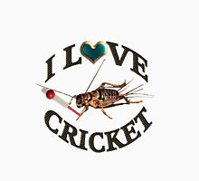 FOR THE LOVE OF THE SPORT & GAME OF CRICKET..FUN PICTURE OF A CRICKET PLAYING THE GAME CRICKET LOL...TEE SHIRTS,PILLOWS,TOTE BAGS,SCARF,CELL PHONE COVERS ECT.. Unisex T-Shirt