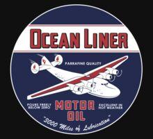 Ocean Liner Motor Oil One Piece - Long Sleeve