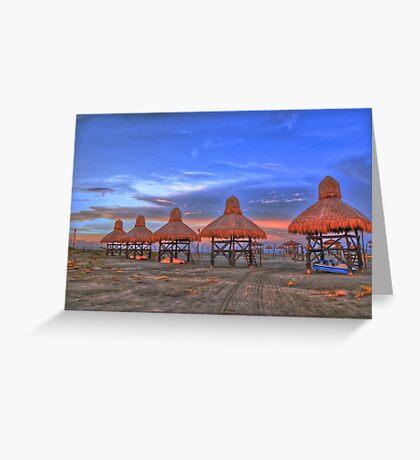 Beach Blue Skies Greeting Card