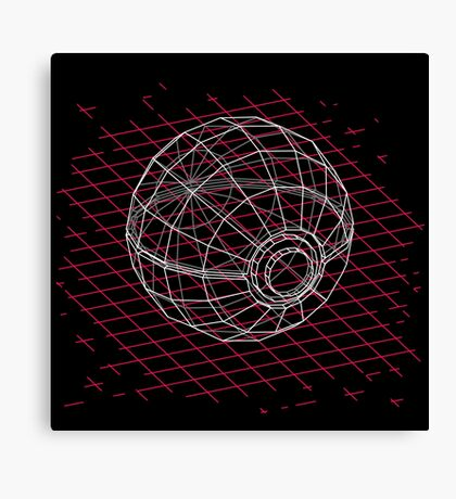 Digital Pokeball Canvas Print